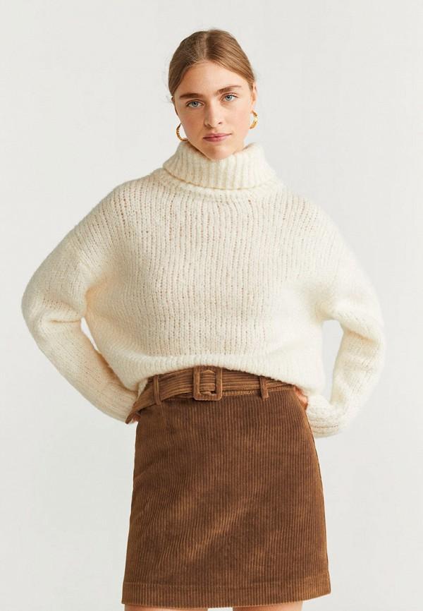 женская прямые юбка mango, коричневая
