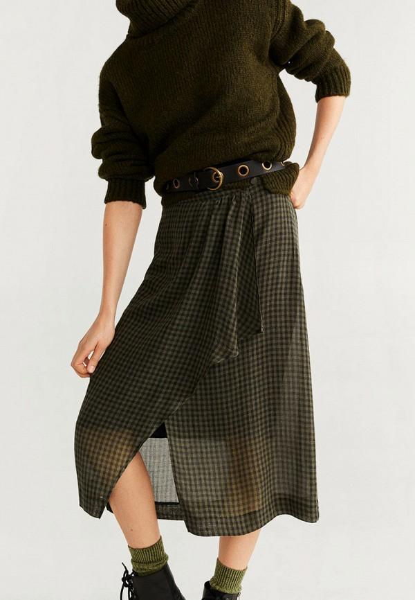 женская прямые юбка mango, хаки