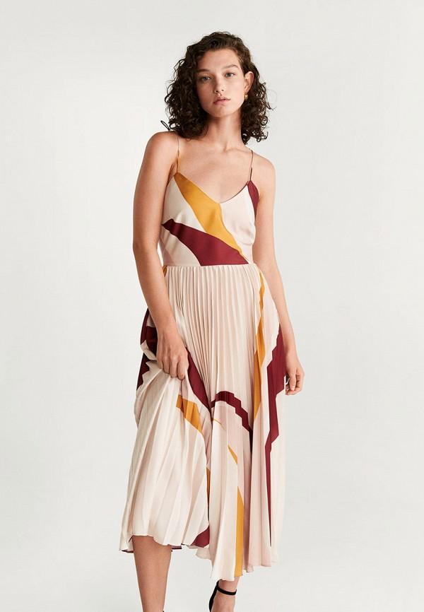 женское вечерние платье mango, розовое