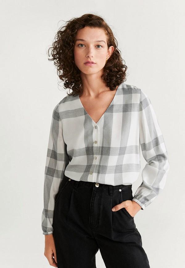 женская блузка mango, серая