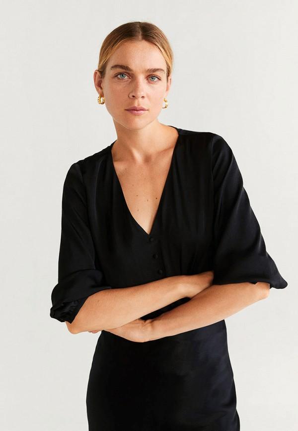 Фото - Блузу Mango черного цвета