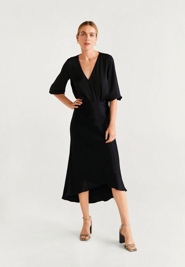 Фото 2 - Блузу Mango черного цвета