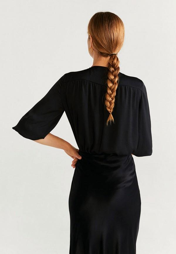 Фото 3 - Блузу Mango черного цвета