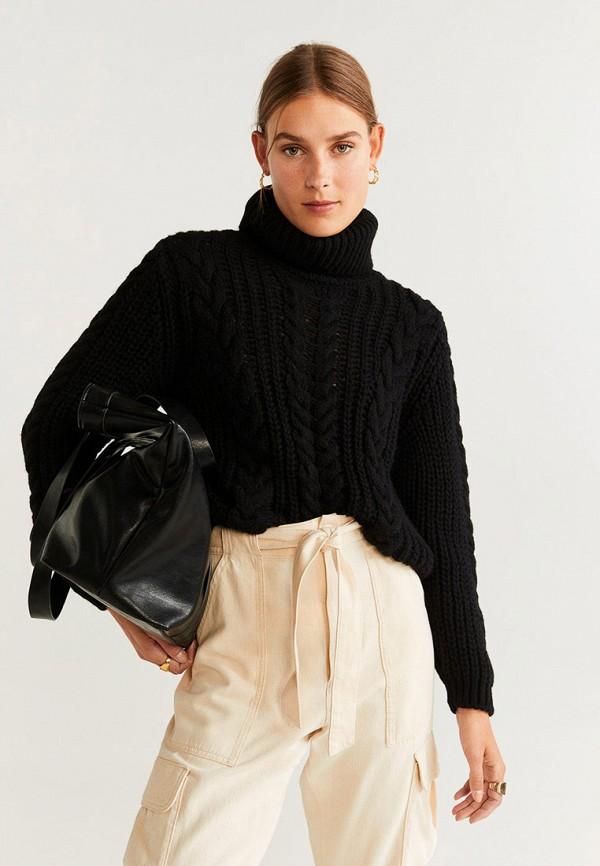 женский свитер mango, черный