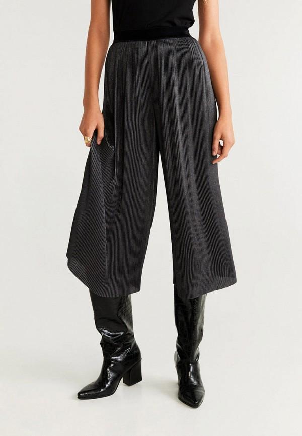 женские брюки mango, серебряные