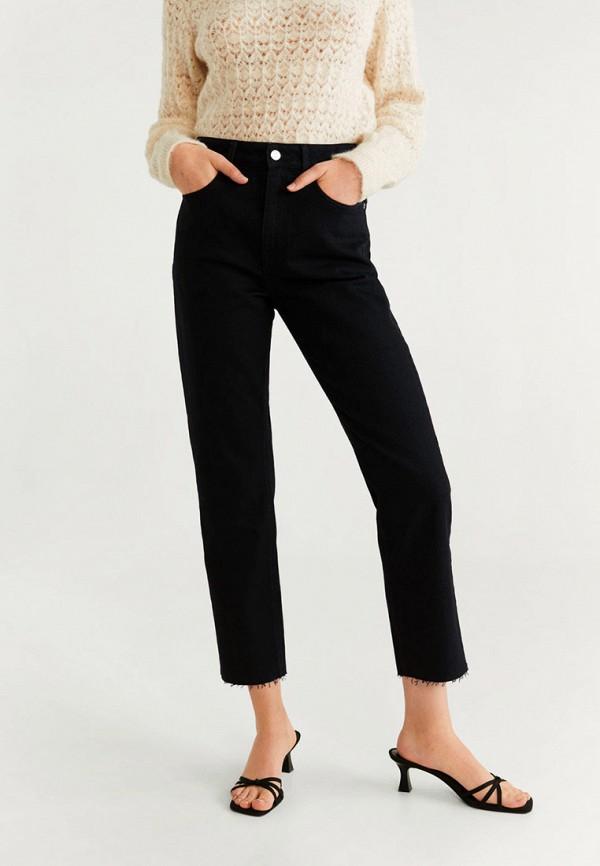 женские джинсы бойфренд mango, черные
