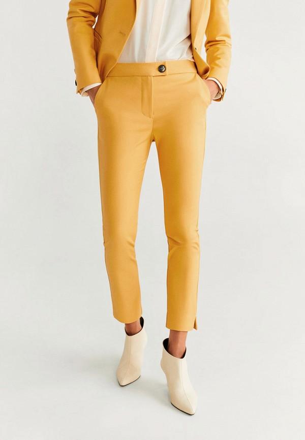 женские повседневные брюки mango, желтые