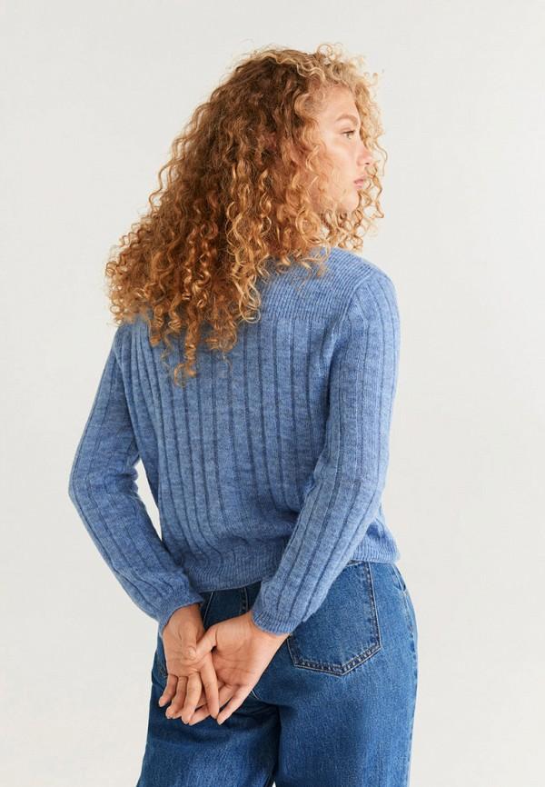 Фото 3 - женский джемпер Mango голубого цвета