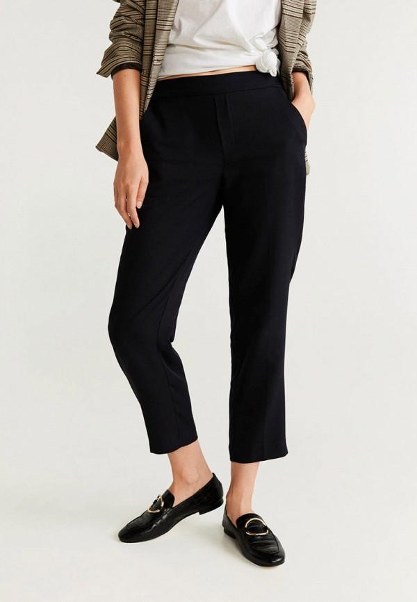 женские повседневные брюки mango, черные