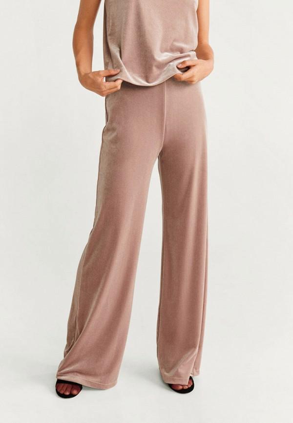 женские повседневные брюки mango, розовые
