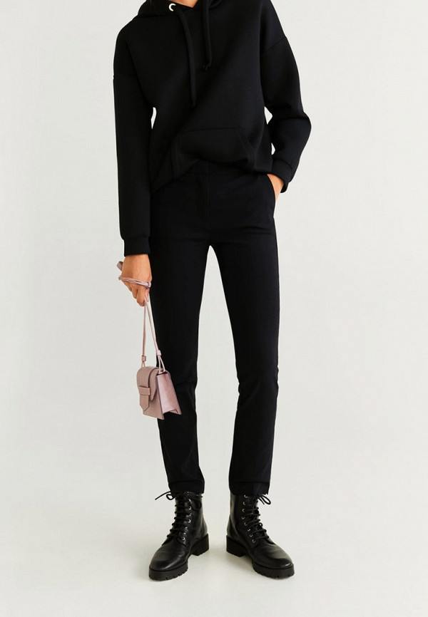 женские классические брюки mango, черные