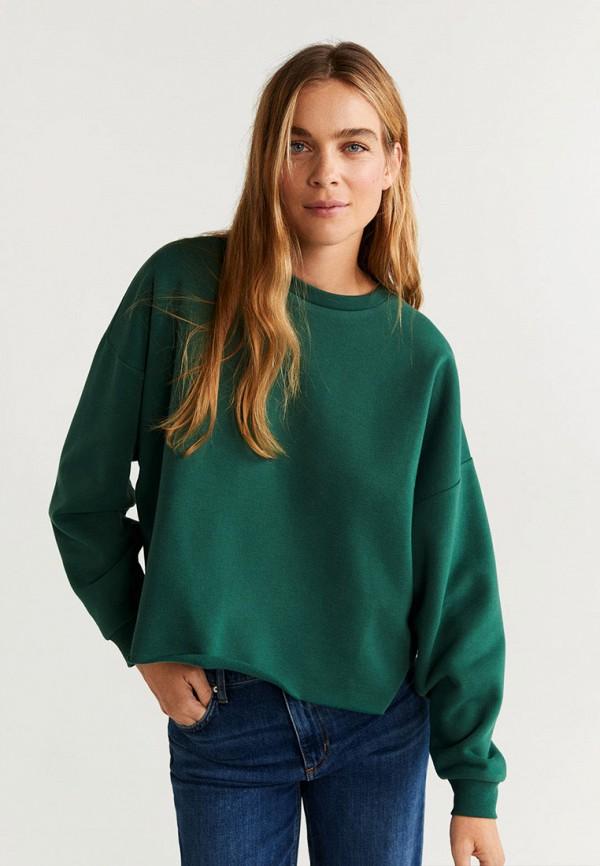 женский свитшот mango, зеленый