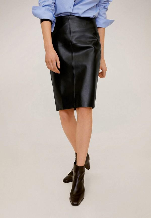 женская юбка mango, черная