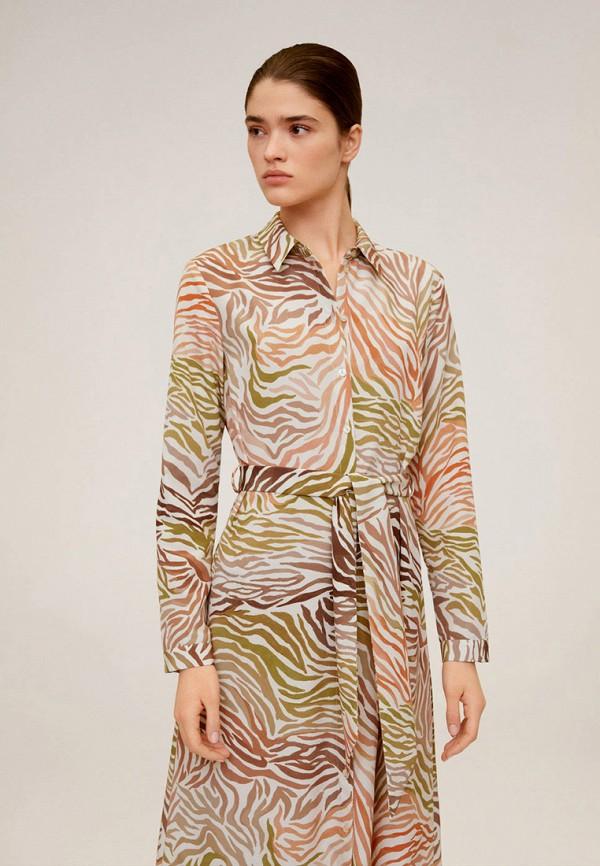 женское повседневные платье mango, разноцветное