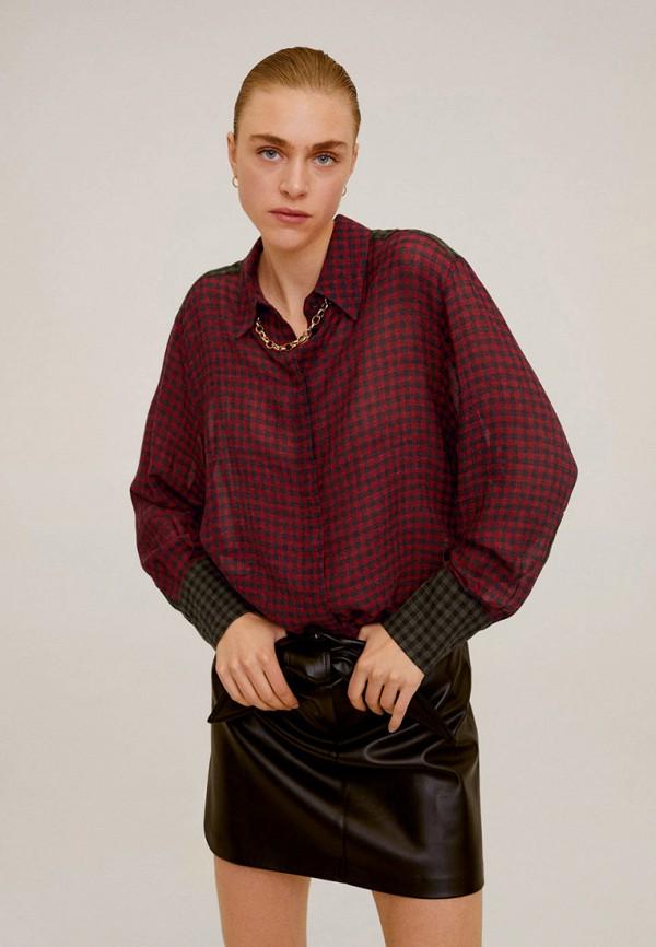 женская блузка mango, бордовая