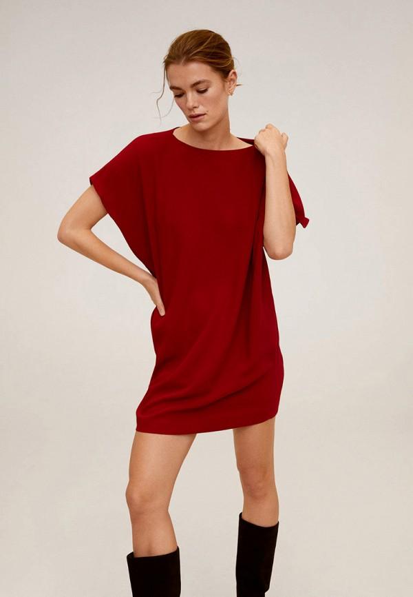 женское платье mango, бордовое