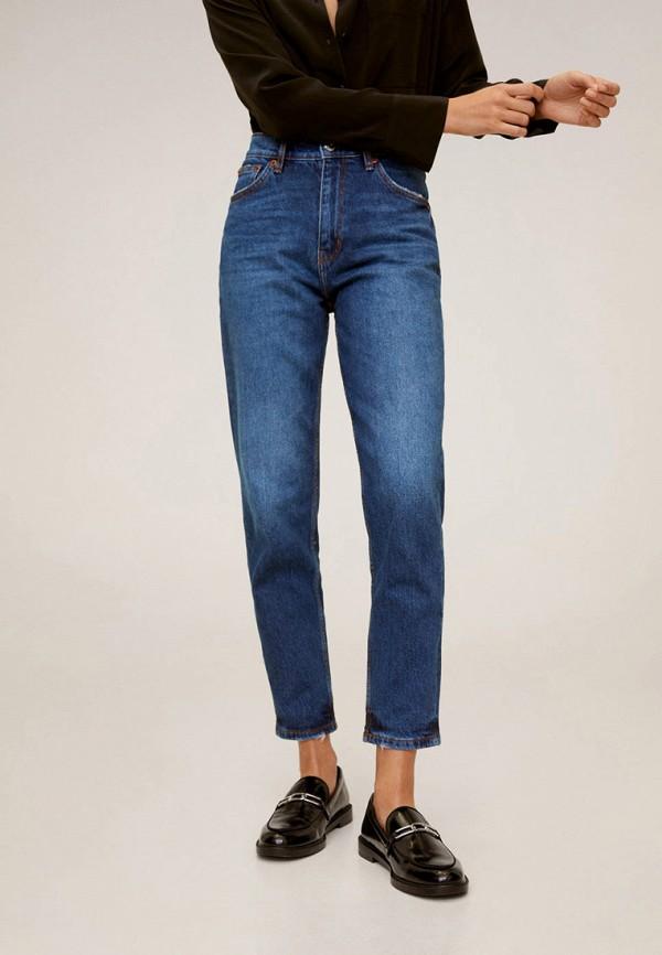 женские прямые джинсы mango, синие