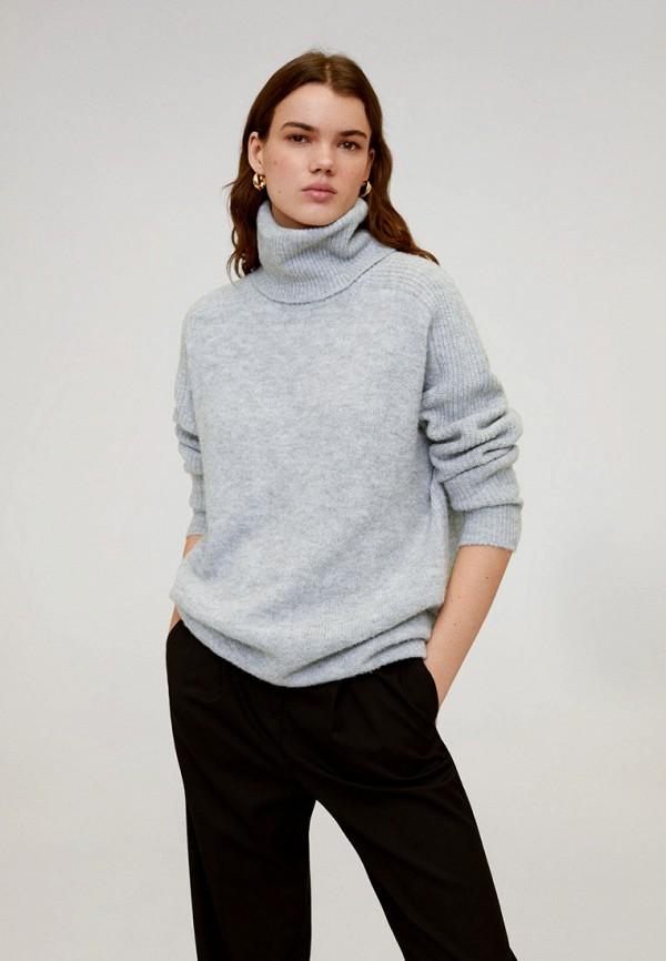 женский свитер mango, серый