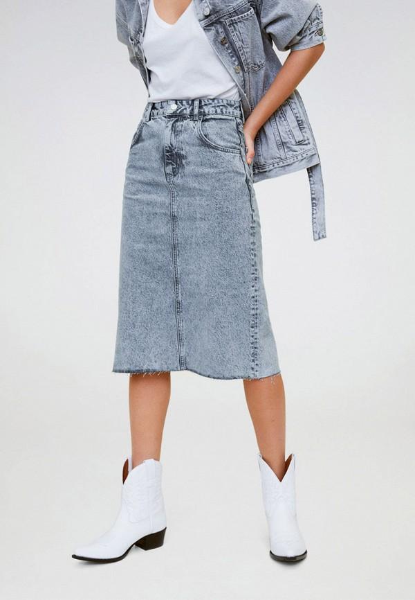 Юбка джинсовая Mango Mango MA002EWIJNQ9 цена и фото