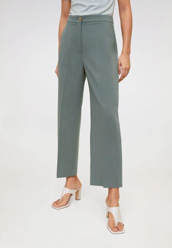 женские повседневные брюки mango, бирюзовые