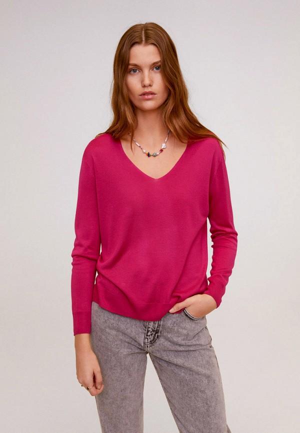 женский пуловер mango, розовый