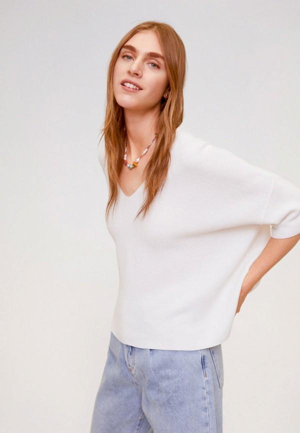 женский пуловер mango, коричневый