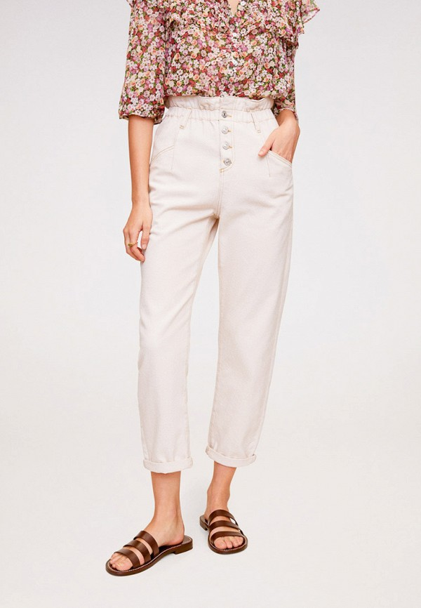 женские джинсы mango, белые