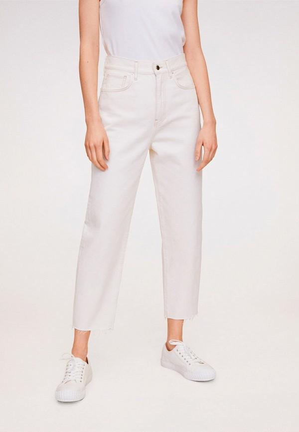 женские прямые джинсы mango, белые