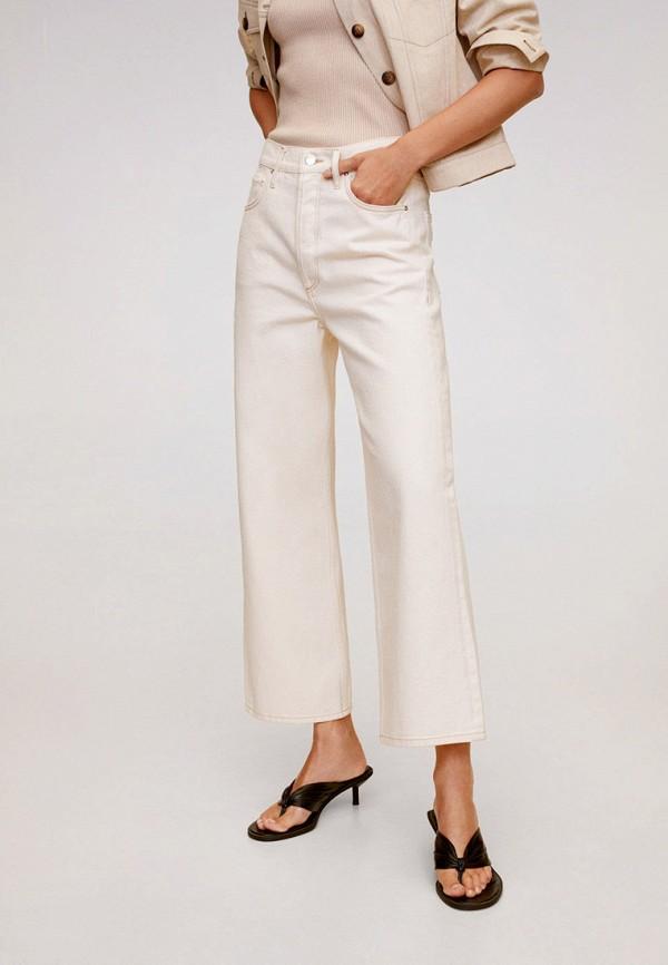 женские джинсы клеш mango, белые