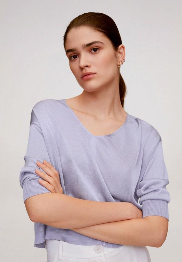 женский пуловер mango, фиолетовый