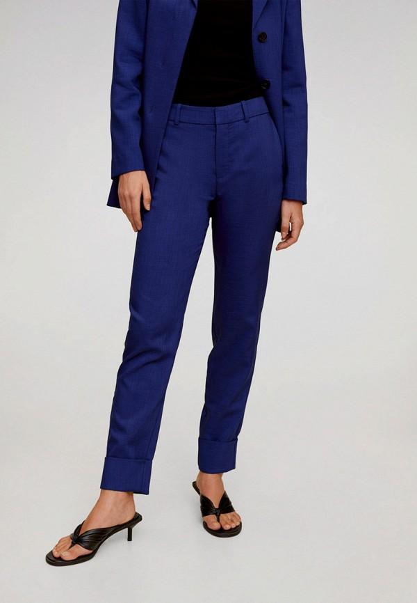 женские классические брюки mango, синие