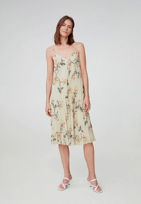 женское повседневные платье mango, бежевое