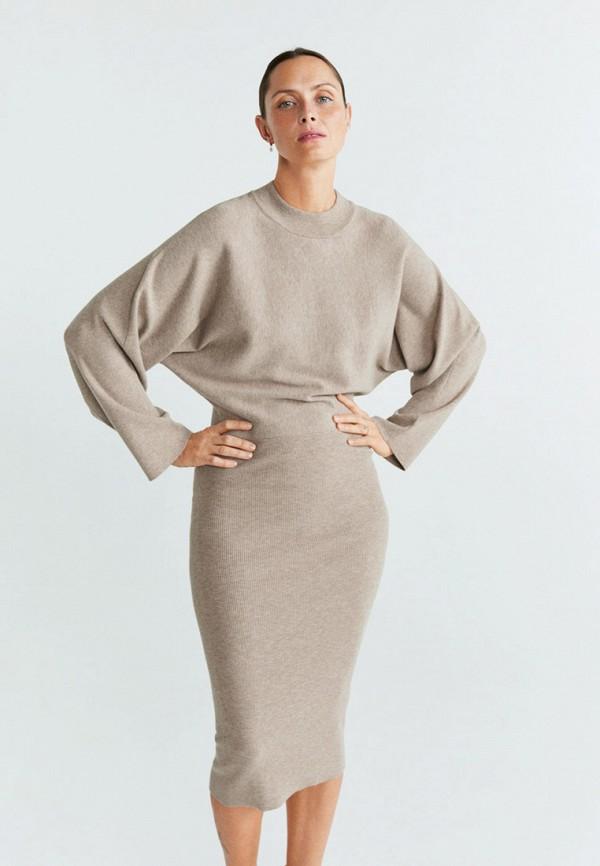 женское платье mango, серое
