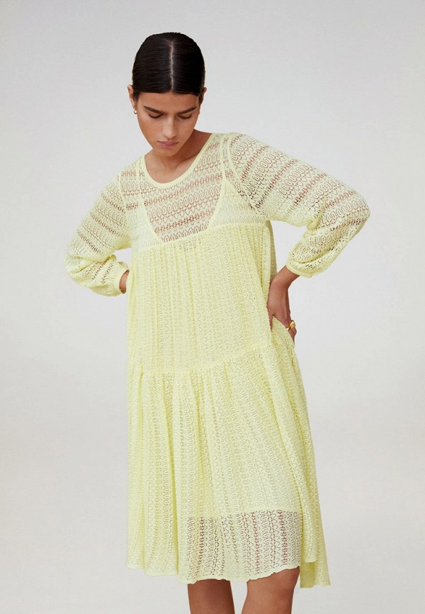 женское повседневные платье mango, желтое