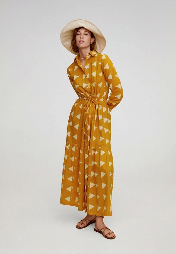 женское платье mango, желтое