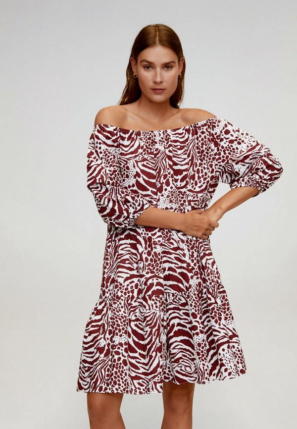 женское платье mango, красное