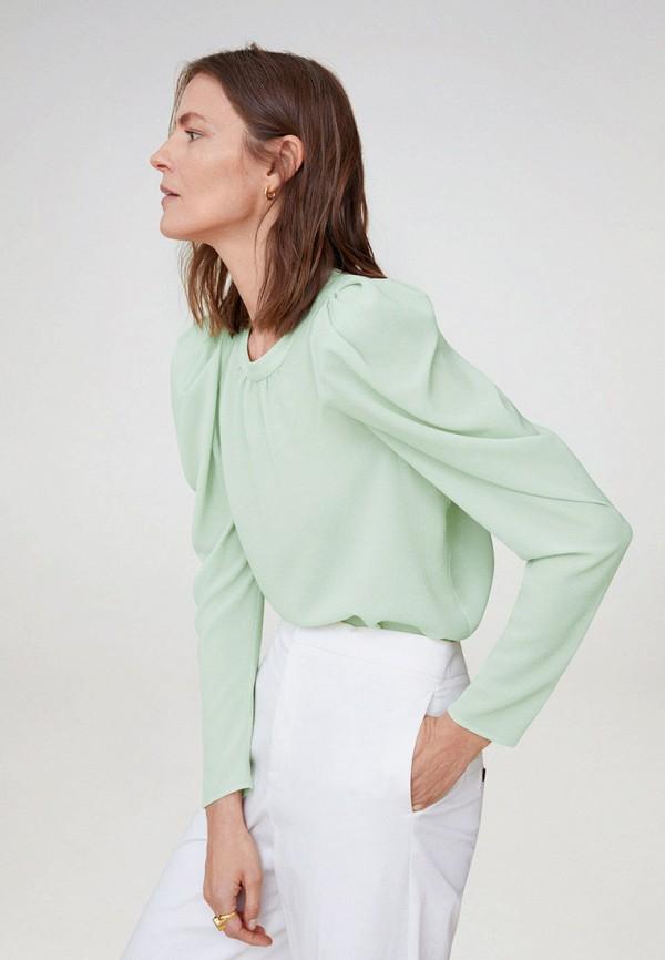 женская блузка mango, бирюзовая