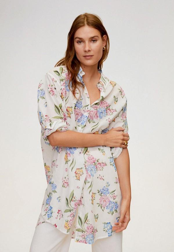 женская рубашка mango, белая