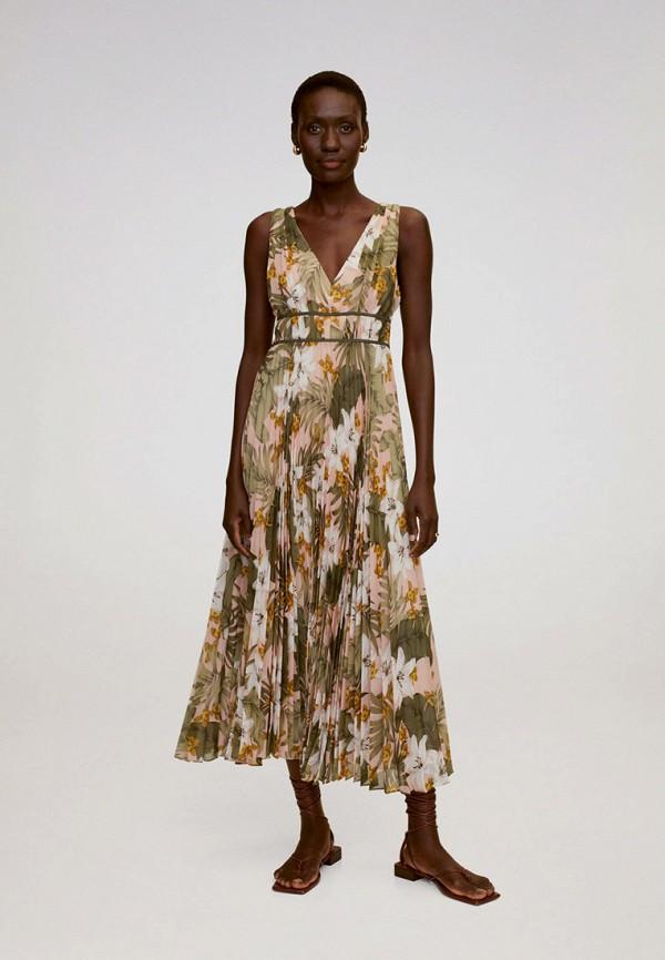женское повседневные платье mango, зеленое