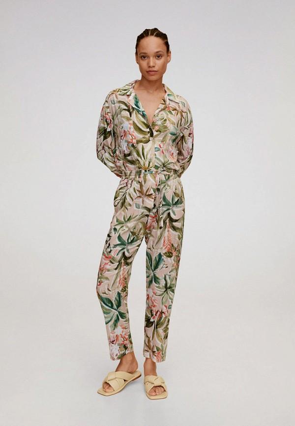 женская блузка с длинным рукавом mango, разноцветная