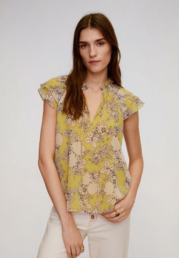 женская блузка mango, желтая