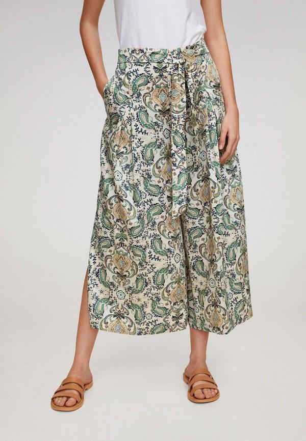 женские брюки кюлоты mango, разноцветные