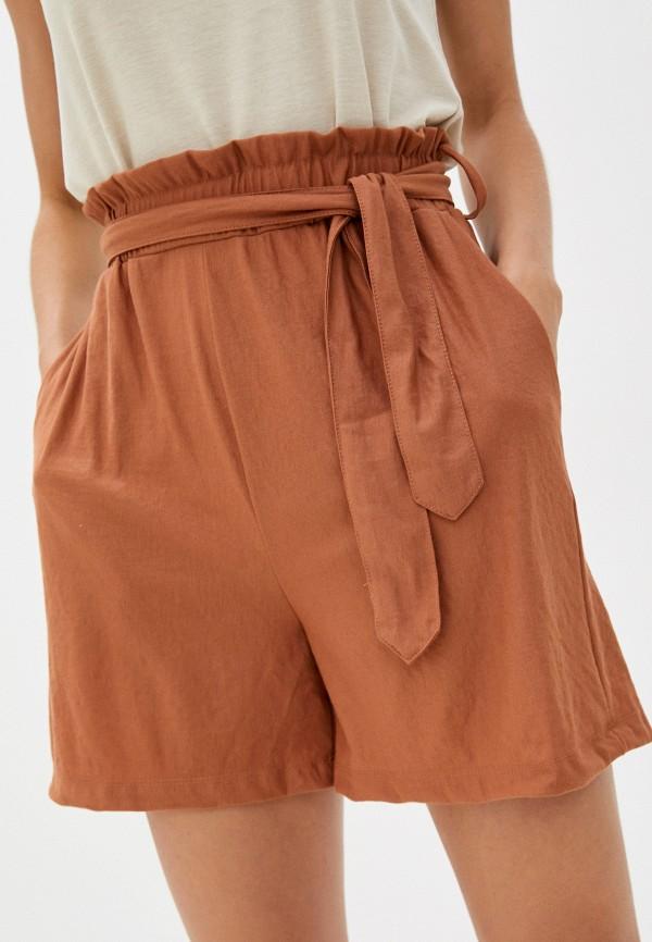 женские повседневные шорты mango, коричневые