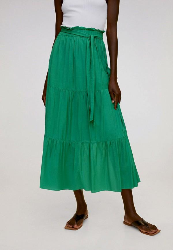 женская юбка-трапеции mango, зеленая