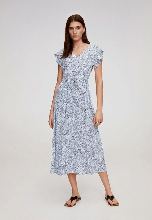 женское повседневные платье mango, голубое