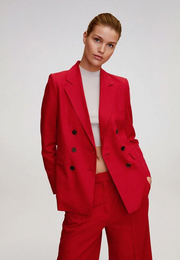 женский пиджак mango, красный