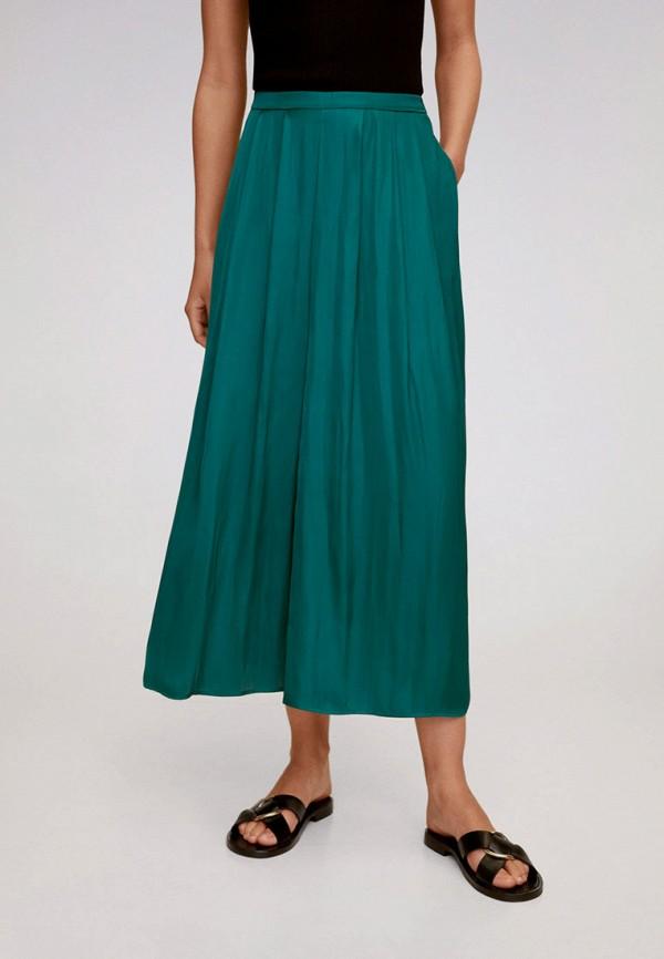 женские повседневные брюки mango, зеленые
