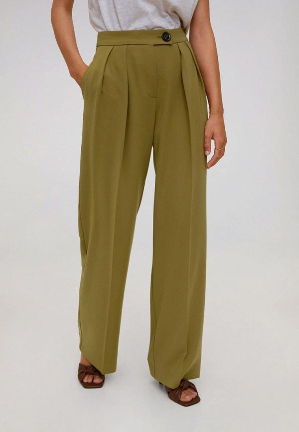 женские классические брюки mango, хаки