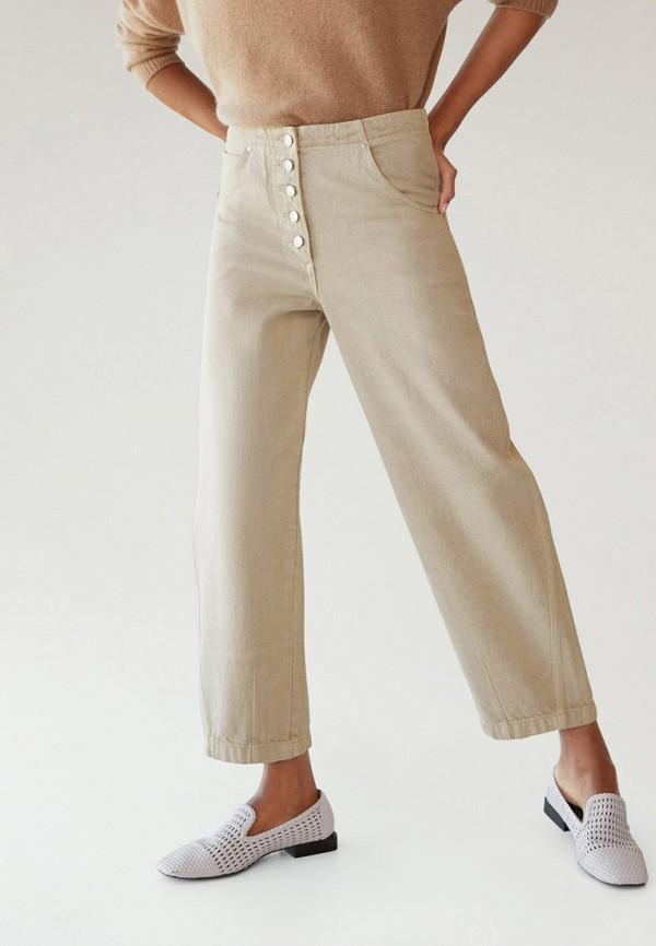 женские джинсы бойфренд mango, бежевые