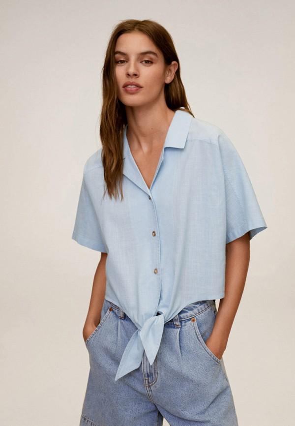 женская блузка mango, голубая